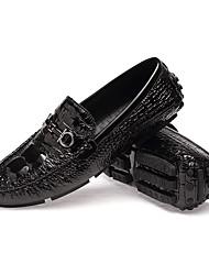 abordables -Homme Chaussures Cuir Automne / Hiver Chaussures de plongée / Nouveauté / Confort Mocassins et Chaussons+D6148 Marche Noir / Argent /