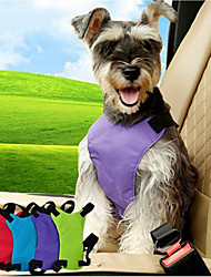 cheap -Dog Car Seat Harness/Safety Harness Adjustable Solid Nylon Black Purple Blue