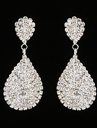 cheap -Women's AAA Cubic Zirconia Drop Earrings - Rhinestone Drop Silver For Wedding / Party
