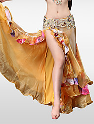cheap -Belly Dance Bottoms Women's Performance Polyester Chinlon Ruffles Dropped Skirts