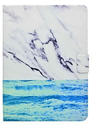 titular de cartão de padrão de mármore com suporte flip caixa de couro magnético para Samsung Galaxy Tab 4 t530 t531 tablet de 10,1