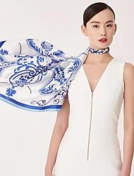 cheap -Women's Silk Square Print Spring/Fall All Seasons