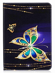 cheap -Butterfly Pattern Card Holder Wallet with Stand Flip Magnetic PU Leather Case for Samsung Galaxy Tab S2 T810 T815 9.7 inch Tablet PC