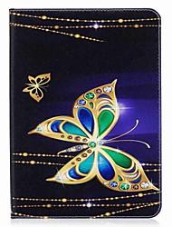 preiswerte -Hülle Für Samsung Galaxy Tab S2 9.7 Ganzkörper-Gehäuse Tablet-Hüllen Schmetterling Hart PU-Leder für