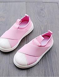 baratos -Para Meninas sapatos Tecido Inverno Outono Conforto Tênis para Casual Branco Preto Cinzento Rosa claro