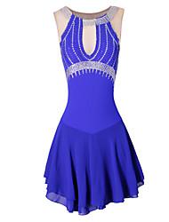 Robe de Patinage Artistique Femme Fille Robe de Patinage Violet Bleu Classique Utilisation Fait à la main Sans Manches Tenue de Patinage
