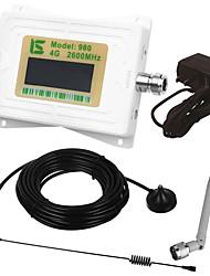mini display lcd inteligente 4g980 2600mhz repetidor de sinal de sinal de telefone celular com antena de otário ao ar livre / antena de