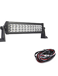 108W 10800LM 6000K 3-Rows LED Work Light Cool White Combo Offroad Driving Light for Car/Boat/Headlight IP68 9-32V  2m 1-To-1 Wiring Harness Kit