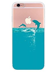 cheap -Case For Apple iPhone X iPhone 8 iPhone 8 Plus Ultra-thin Transparent Pattern Back Cover Animal Cartoon Soft TPU for iPhone X iPhone 8
