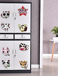 Недорогие -Животные Наклейки Простые наклейки Наклейки на холодильник материал Украшение дома Наклейка на стену