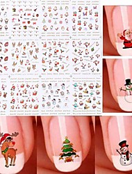 cheap -Water Transfer Decals Nail Stamping Template Nail Art Design Daily Fashion High Quality