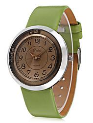 JUBAOLI Women's Fashion Watch Wrist watch Chinese Quartz Leather Band Charm Cool Casual Black White Brown Green
