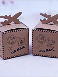 abordables -Créatif Rectangulaire Papier durci Satin Titulaire de Faveur avec Motif Boîtes à cadeaux