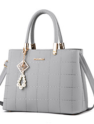 cheap -Women Bags PU Tote Pearl Detailing Sequins for Casual Office & Career Winter Fall Fuchsia Light Grey Sky Blue Wine Royal Blue