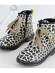 cheap -Girls' Shoes Flocking Winter Fall Bootie Comfort Boots for Casual Leopard