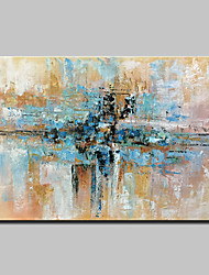 cheap -Oil Painting Hand Painted - Abstract Abstract Modern Canvas