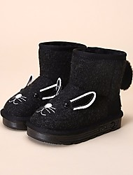 cheap -Girls' Shoes Knit Winter Snow Boots Boots for Black / Gray / Booties / Ankle Boots