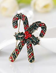 abordables -broches femmes style mignon personnalisé strass alliage bijoux pour cadeau de noël