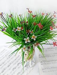 5 bouquet plantes artificielles herbe chanceuse 5 mélange de couleurs 7 fourchettes décoration de la maison