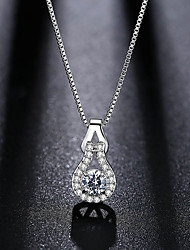cheap -Women's Drop Pendant Necklace Cubic Zirconia Rhinestone Rhinestone Pendant Necklace , Wedding Party
