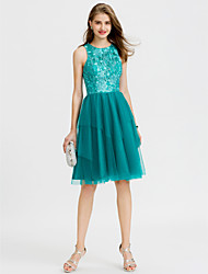 cheap -A-Line Jewel Neck Short / Mini Tulle Cocktail Party / Prom Dress with Sequin by TS Couture®