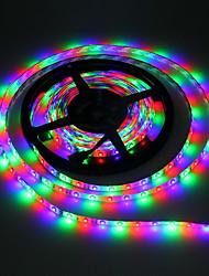 Недорогие -5м RGB полосы света 300 светодиодов 3528 smd 10мм RGB резки / самоклеющиеся / с изменением цвета 5 В 1шт