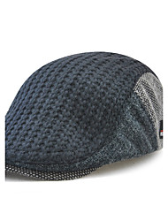 cheap -Men's Wool Cotton Beret Hat Floppy Hat Baseball Cap - Patchwork Patchwork