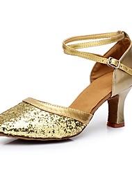 """economico -Da donna Danza moderna Paillette Materiali personalizzati Tacchi Per interni Tacco su misura Oro Argento Rosso 2 """"- 2 3/4"""""""