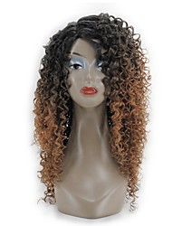 cheap -Women Synthetic Wig Capless Long Black/Medium Auburn African American Wig Ombre Hair Layered Haircut Natural Wigs Costume Wig