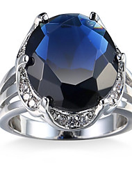 Муж. Жен. Кольцо на кончик пальца Обручальное кольцо Цирконий Циркон Медь Круглой формы Бижутерия Назначение Свадьба Для вечеринок День