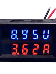 cheap -DIY Practical Dual 0.28 inch 3 Digit Red Blue LED Display Voltage Current Meter (DC 0 - 100V / 50A)