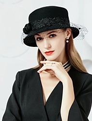 cheap -Wool Tulle Hats 1 Special Occasion Party / Evening Headpiece