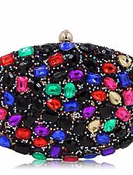 economico -Donna Sacchetti Poliestere Pochette Bottoni Dettagli con cristalli per Casual Per tutte le stagioni Blu Nero Fucsia