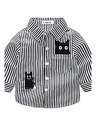 Baby Stripe Shirt-Polyester-Autumn/Fall-