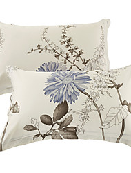 preiswerte -Gemütlich 100% Baumwolle Kissenbezug Drillich Blumen Reaktivdruck 400 Tc