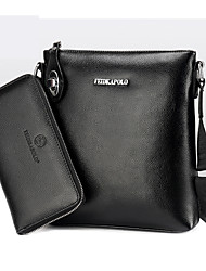 preiswerte -Herrn Taschen PU Bag Set 2 Stück Geldbörse Set Reißverschluss für Draussen Schwarz / Braun