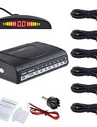 carro de ziqiao® 6 sensores reverso de segurança carro estacionamento detector de radar