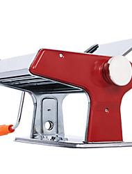 Недорогие -кухонная красная нержавеющая сталь многофункциональная ручная машина для производства лапши