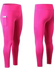 economico -Per donna Collant da corsa Fitness, Running & Yoga Calze/Collant/Cosciali Yoga Corsa Casual Taglia piccola Fucsia Verde Blu Bianco/Nero