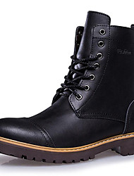 cheap -Men's Shoes Leather Fall / Winter Snow Boots / Bootie / Combat Boots Boots Booties / Ankle Boots Black / Brown