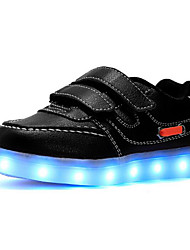 Boys' Shoes PU Spring Fall Comfort Sneakers For Casual Black White