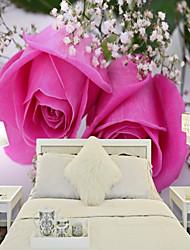Недорогие -Рисунок 3D Цветы Обои Для дома Деревня Облицовка стен , Холст материал Клей требуется обои , Обои для дома