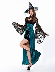 Sorcière Costumes de Cosplay Pour Halloween Féminin Noël Halloween Carnaval Nouvel an Fête d'Octobre Fête / Célébration Déguisement