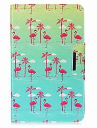 preiswerte -Hülle Für Samsung Galaxy Ganzkörper-Gehäuse Tablet-Hüllen Flamingo Hart PU-Leder für Tab A 10.1 (2016)