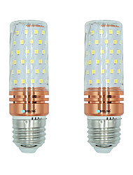 cheap -2pcs 16W E27 LED Corn Lights T 84 leds SMD 2835 Warm White White Dual Light Source Color 1300lm 3000-3500  6000-6500  3000-6500K AC