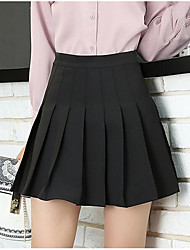 cheap -Women's Going out Above Knee Skirts Pencil Solid Summer