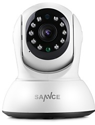 cheap -SANNCE 1.0 MP Indoor with IR-cut 64(Day Night Motion Detection Remote Access Plug and play Wi-Fi Protected Setup IR-cut) IP Camera