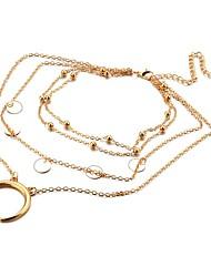 Mulheres colares em camadas lua Liga Simples Elegant Jóias Para Festa Para Noite