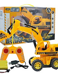 cheap -Excavator Toy Truck Construction Vehicle Remote Control RC Building Block Kit Toy Car 1:16 Remote Control / RC Rechargeable Electric Kid's