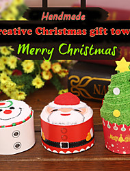 cheap -1Pcs 30*30Cm Santa Claus Christmas Gift Towel Christmas Tree Christmas Snowman White Green Towels 3 Styles